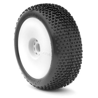 AKA EVO I-BEAM Medium Long Wear Pre-Mounted Tires with White EVO Rims - 14001ZRW