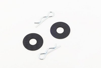 Beta BE4503 - Carbon Fiber Body Post Washer with Clips - 2 Pcs