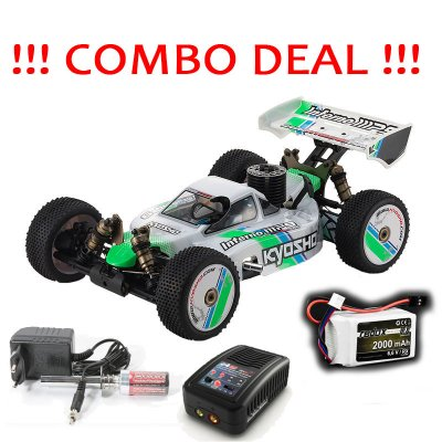 COMBO DEAL -1/ 8 Racing Buggy - Kyosho Inferno MP9 TKI Readyset + Glow Starter + Battery and Charger