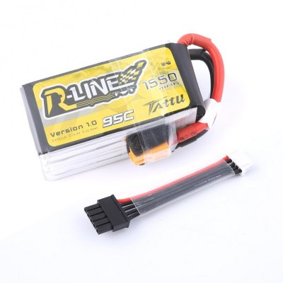 1550mAh Tattu R-Line 95C 4S1P Lipo Battery Pack with XT-60 plug & Detachable Balance Cable for FPV Racing Drone