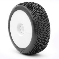 AKA Impact Soft Long Wear Pre-Mounted Tires with White EVO Rims - 14007XRW