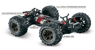 1/16 Absima 4WD High Speed Sand Buggy Black/Red (2.4Ghz, RTR) - 16005